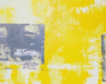 """Set of two arts """"Yellow Squares"""" (for order)"""