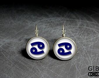 ON SALE Cancer Dangles Earrings Cancer June Earrings - Cancer July Dangles June Birthday Earrings - Cancer June Dangles Jewelry Cancer Birth