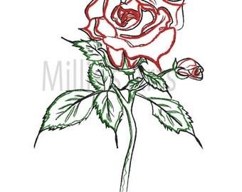 Rose Hand Drawn