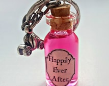 Fairytale Gift - Happily Ever After Potion - Fairytale Keyring - Happily Ever After Charm - Princess Keyring