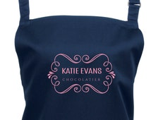 """Personalized """"Chocolatier"""" Apron, Choose from 16 Colours - Kitchen Apron, Custom Chocolate Making Apron, 1013"""