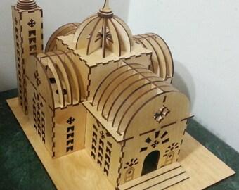 Easter sale.... DIY Laser Cut Coptic style Church model