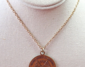 Vintage USA Bicentennial Necklace