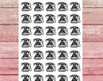 On Call Planner Stickers (Small)