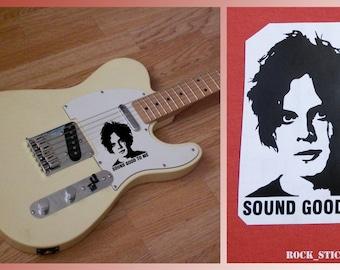 Jack White guitar sticker portrait decal poster vinyl  The White Stripes Sound Good To Me