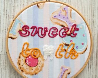 Sweet tooth hoop art