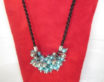 Celestial pearl cluster necklace