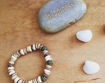 Boho bracelet with wooden beads