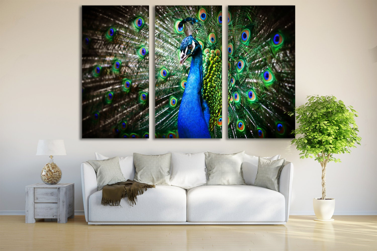 Peacock Print Wall Art Peacock Art Print Decor Bird Wall Art