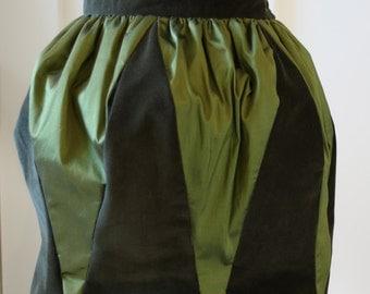 Olive Green Tulip Skirt