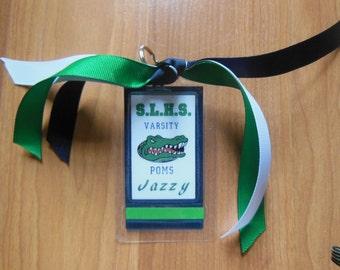 Cheer bag tag, Poms bag tag, luggage tag, Cheerleading bag tag, Sports Bag Tag, Cheer Gift
