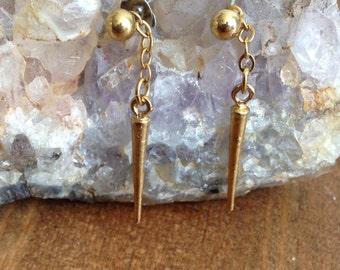Vintage Spear Drop Earrings