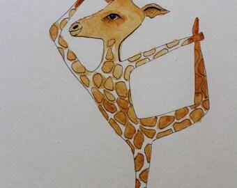 Yoga Gift Card - Dancing Giraffe