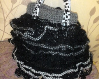 "Knitted bag ""waves"" of handmade"