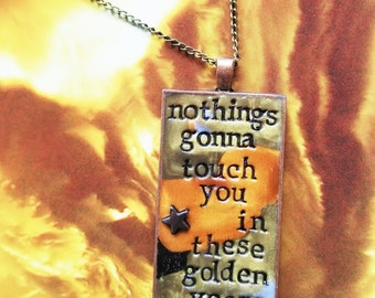 Golden Years David Bowie Pendant Necklace
