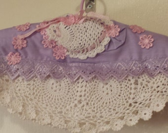 romantic covered padded hanger ,ribbon and lace