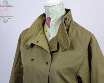 Vintage Khaki Double breasted Jacket Size M/L