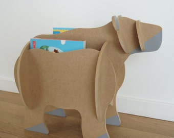 Magazine rack bear - Leonard & co. - in kit - Puzzle 3D - Range-book - portfolio