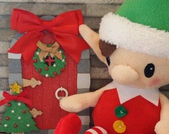 NAUGHTY OR NICE elf door and elf