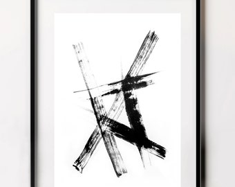 Black and White, Contemporary Print, Minimalist Print, Japanese Art, Downloadable Art, Black and White Print