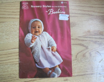 Beehive Nursery Styles for 3 to 12 Months / Patons Book No. 111