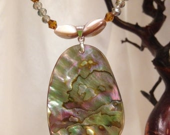 Sparkling Abalone Necklace