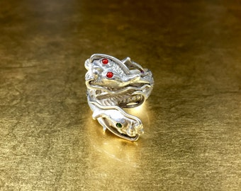 Dragon Ring | Dragon Jewelry | Sterling Dragon Ring | Mens Dragon Ring | Mens Dragon Ring | Guys Dragon Ring | His Dragon Ring | Size 9.5