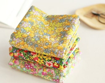 Floral patterned Fabric, Flower Rubber Duck Fabric made in Korea by Half Yard