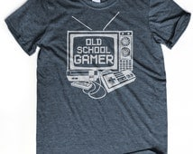 GEEKY GIFT old school gamer t-shirt Nintendo shirt Pixel art t-shirt Boyfriend birthday gift N64 gamer Nerdy t-shirt Husband gift tee