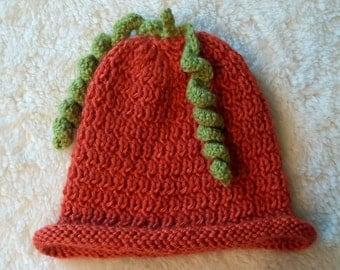 Knit Pumpkin Baby Hat