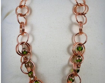 Bold in Rose Gold Necklace