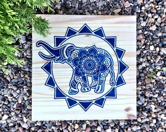 Wood Wall Art, Elephant Mandala, Elephant Design, Elephant Painting,  Elephant Wall Art, Modern Elephant, Wall Hanging, Animal Mandala, Zen