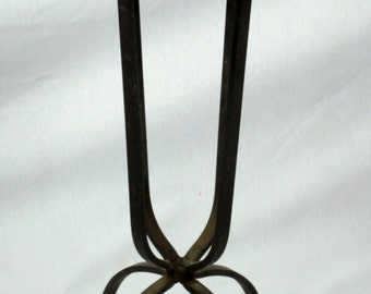 Vintage Mission style /Arts and Crafts Style  Tile-top Wrought Iron Plant Stand/Occasional Table
