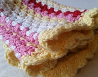 Granny stripes baby blanket