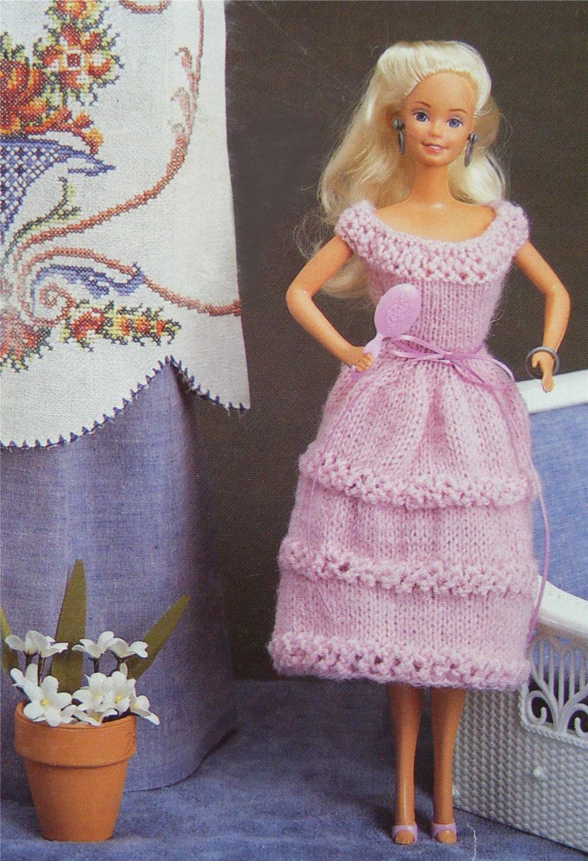 Dolls Clothes PDF Knitting Pattern : 11 - 12 inch Dolly ...