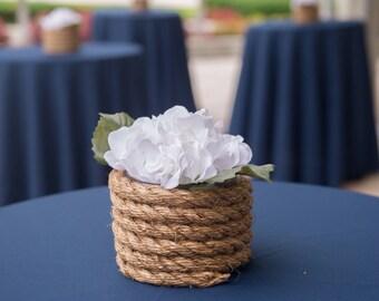 Wedding Hydrangea Rope Centerpiece