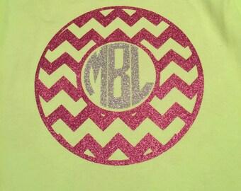 Chevron monogram shirt