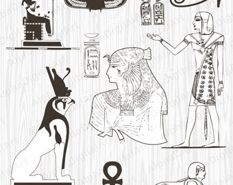 8 Egyptian Ornament, Pharaoh Clipart, Sphinx Clipart, Mummy Clipart, Egypt Clipart, Ancient Egypt Ornament, scarab clip,scrapbooking clipart