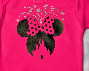 Minnie Castle Shirt, Minnie Mouse, Disney Castle, Minnie Ears, Fireworks, Disney Vacation Shirts, Disney Youth Shirts, Disney Family Shirts