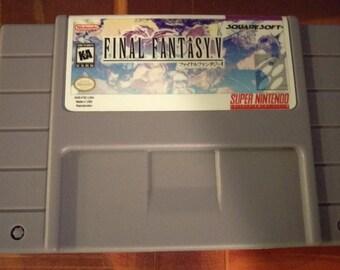 Final Fantasy V SNES English Translated Cart