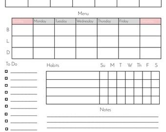 Weekly Organization Chart