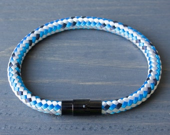 Blue Sailing Rope Bracelet | Rope Bracelet with Magnetic clasp