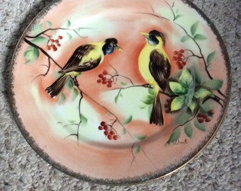 Royal Crown Signed Hand Painted Plate