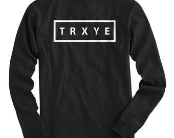 TRXYE Jumper Troye Sivan Blue Neighbourhood Tour Fan Concert Sweater YouTube Vlogger Blogger Music Band Jumper