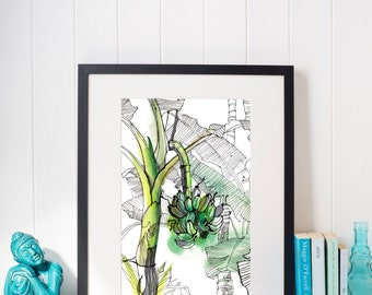 Watercolour, Wall Art Print Watercolor, Poster, Gifts