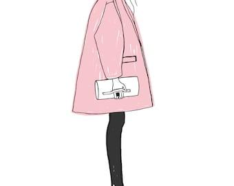 Pink - original illustrations, posters