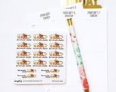 CLOSING SALE 40% OFF - 050 planner stickers : brunch date (breakfast)