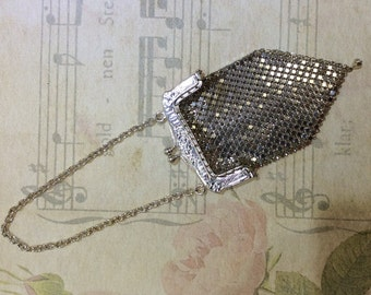 Silver plated flapper purse
