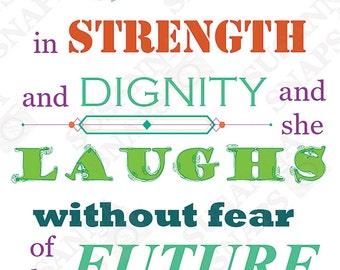 Proverbs 31:25 Scripture Quote Download Print
