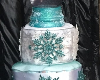 Custom four tier diapercake